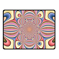 Pastel Shades Ornamental Flower Fleece Blanket (Small)