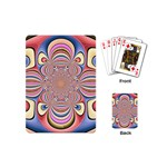 Pastel Shades Ornamental Flower Playing Cards (Mini)  Back