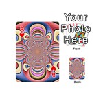 Pastel Shades Ornamental Flower Playing Cards 54 (Mini)  Front - HeartA