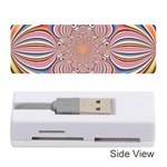 Pastel Shades Ornamental Flower Memory Card Reader (Stick)  Front