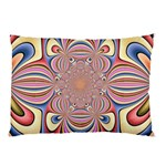 Pastel Shades Ornamental Flower Pillow Case (Two Sides) Back