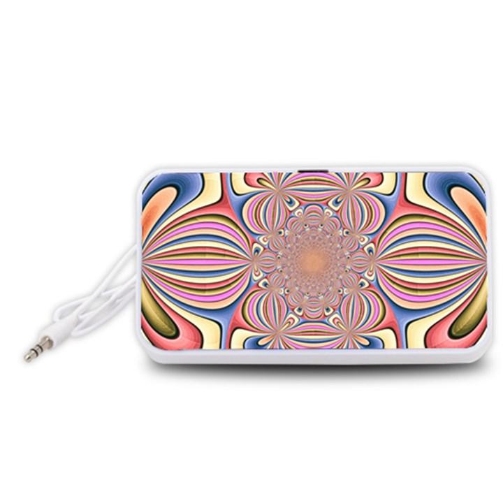 Pastel Shades Ornamental Flower Portable Speaker (White)