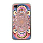 Pastel Shades Ornamental Flower Apple iPhone 4 Case (Clear) Front