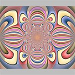 Pastel Shades Ornamental Flower Deluxe Canvas 20  x 16   20  x 16  x 1.5  Stretched Canvas