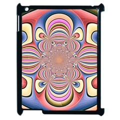 Pastel Shades Ornamental Flower Apple iPad 2 Case (Black)