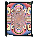 Pastel Shades Ornamental Flower Apple iPad 2 Case (Black) Front