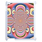 Pastel Shades Ornamental Flower Apple iPad 2 Case (White) Front