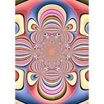 Pastel Shades Ornamental Flower BOY 3D Greeting Card (7x5) Inside