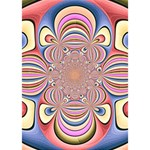 Pastel Shades Ornamental Flower LOVE Bottom 3D Greeting Card (7x5) Inside