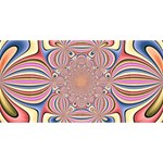 Pastel Shades Ornamental Flower Merry Xmas 3D Greeting Card (8x4) Front