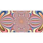 Pastel Shades Ornamental Flower Congrats Graduate 3D Greeting Card (8x4) Front