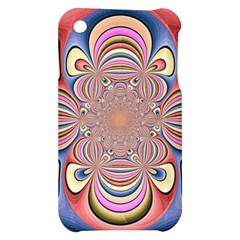 Pastel Shades Ornamental Flower Apple iPhone 3G/3GS Hardshell Case