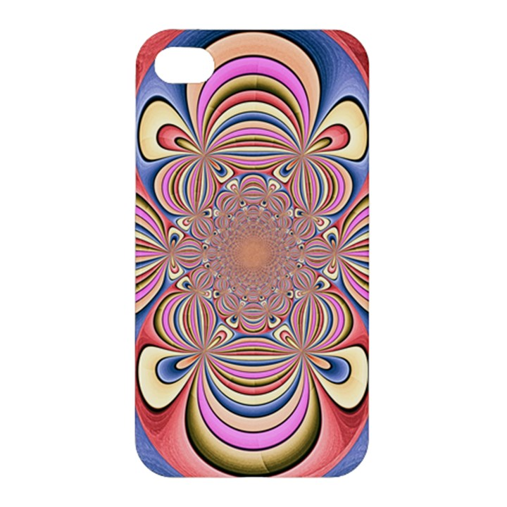 Pastel Shades Ornamental Flower Apple iPhone 4/4S Hardshell Case