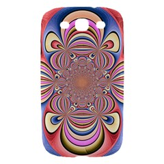 Pastel Shades Ornamental Flower Samsung Galaxy S III Hardshell Case