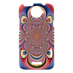 Pastel Shades Ornamental Flower HTC One X Hardshell Case