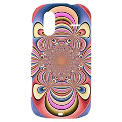 Pastel Shades Ornamental Flower HTC Amaze 4G Hardshell Case