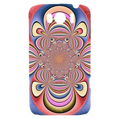 Pastel Shades Ornamental Flower HTC Sensation XL Hardshell Case