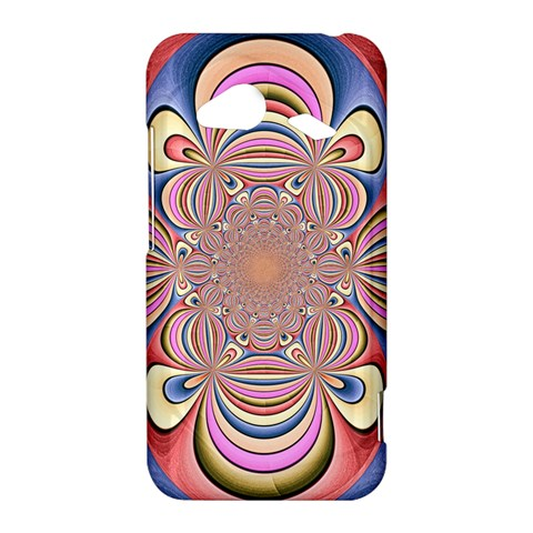 Pastel Shades Ornamental Flower HTC Droid Incredible 4G LTE Hardshell Case