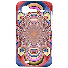 Pastel Shades Ornamental Flower HTC Incredible S Hardshell Case