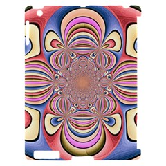 Pastel Shades Ornamental Flower Apple iPad 2 Hardshell Case (Compatible with Smart Cover)