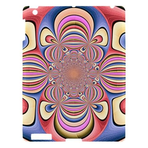 Pastel Shades Ornamental Flower Apple iPad 3/4 Hardshell Case