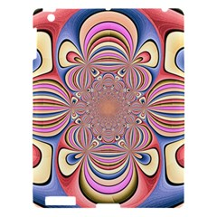 Pastel Shades Ornamental Flower Apple iPad 3/4 Hardshell Case