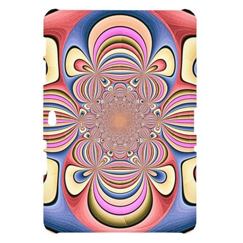 Pastel Shades Ornamental Flower Samsung Galaxy Tab 10.1  P7500 Hardshell Case