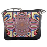 Pastel Shades Ornamental Flower Messenger Bags Front