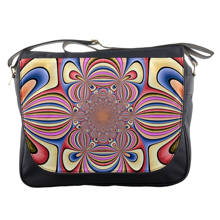 Pastel Shades Ornamental Flower Messenger Bags