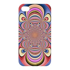Pastel Shades Ornamental Flower Apple iPhone 4/4S Premium Hardshell Case