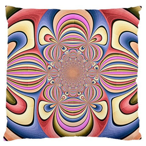 Pastel Shades Ornamental Flower Large Cushion Case (One Side)