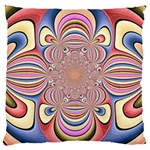 Pastel Shades Ornamental Flower Large Cushion Case (Two Sides) Back