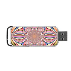 Pastel Shades Ornamental Flower Portable Usb Flash (one Side)