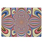 Pastel Shades Ornamental Flower Cosmetic Bag (XXL)  Front