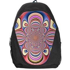 Pastel Shades Ornamental Flower Backpack Bag