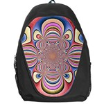 Pastel Shades Ornamental Flower Backpack Bag Front