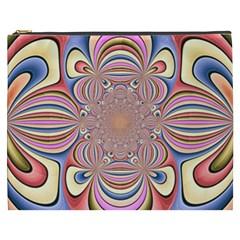 Pastel Shades Ornamental Flower Cosmetic Bag (XXXL)