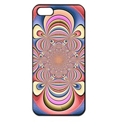 Pastel Shades Ornamental Flower Apple Iphone 5 Seamless Case (black)