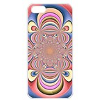 Pastel Shades Ornamental Flower Apple iPhone 5 Seamless Case (White) Front