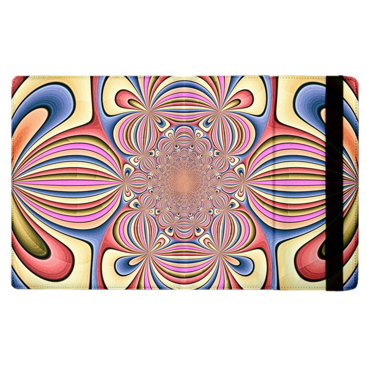 Pastel Shades Ornamental Flower Apple iPad 3/4 Flip Case