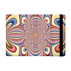 Pastel Shades Ornamental Flower Apple iPad Mini Flip Case