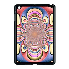 Pastel Shades Ornamental Flower Apple Ipad Mini Case (black)