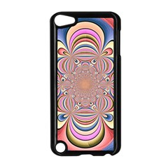 Pastel Shades Ornamental Flower Apple iPod Touch 5 Case (Black)