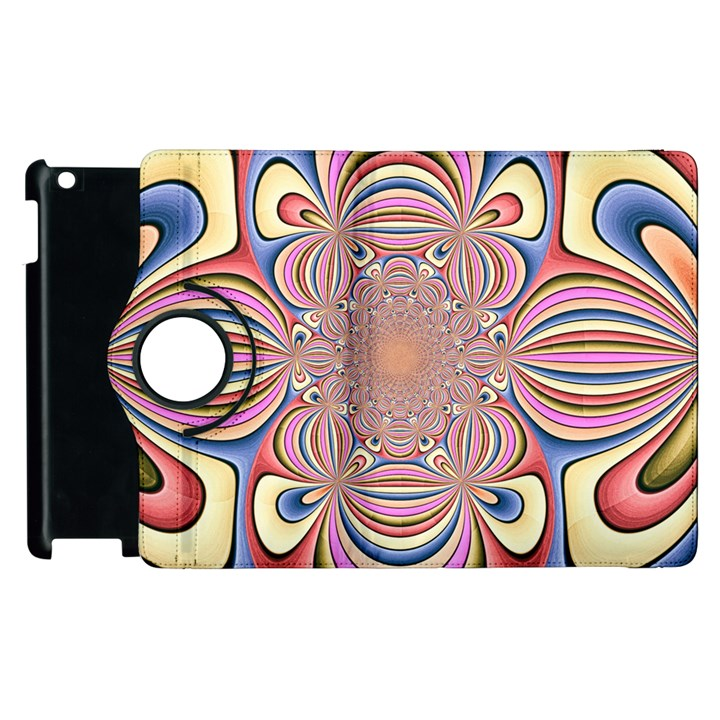 Pastel Shades Ornamental Flower Apple iPad 2 Flip 360 Case