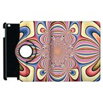 Pastel Shades Ornamental Flower Apple iPad 3/4 Flip 360 Case Front