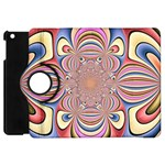 Pastel Shades Ornamental Flower Apple iPad Mini Flip 360 Case Front