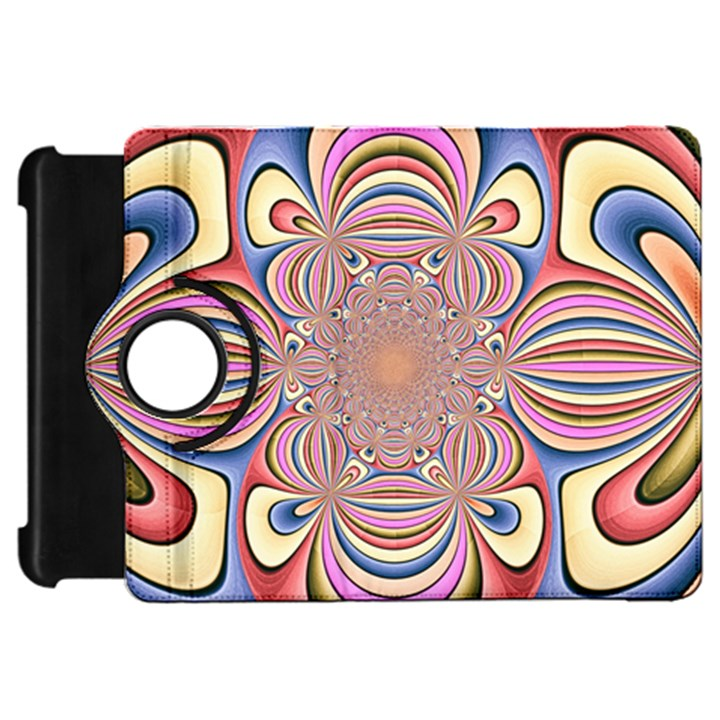 Pastel Shades Ornamental Flower Kindle Fire HD Flip 360 Case