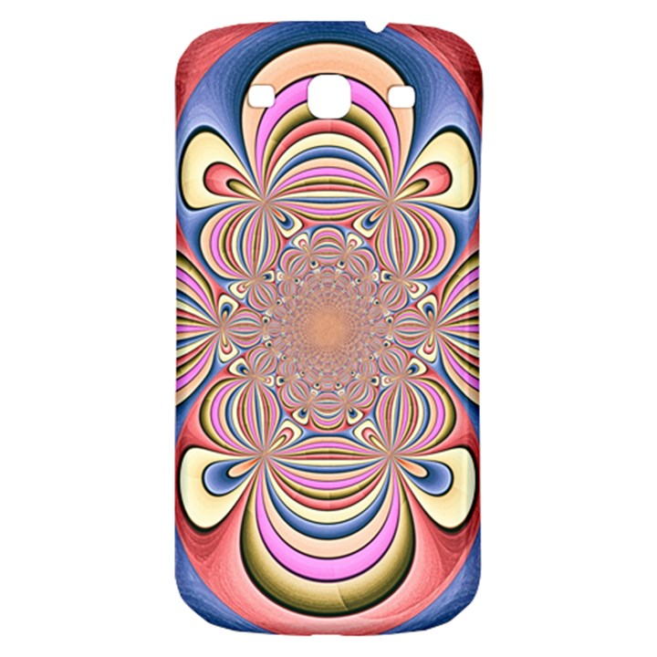 Pastel Shades Ornamental Flower Samsung Galaxy S3 S III Classic Hardshell Back Case