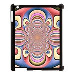 Pastel Shades Ornamental Flower Apple iPad 3/4 Case (Black) Front