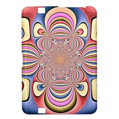 Pastel Shades Ornamental Flower Kindle Fire Hd 8 9
